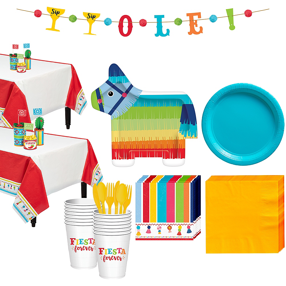 Fiesta Time Tableware Kit for 32 Guests Image #1