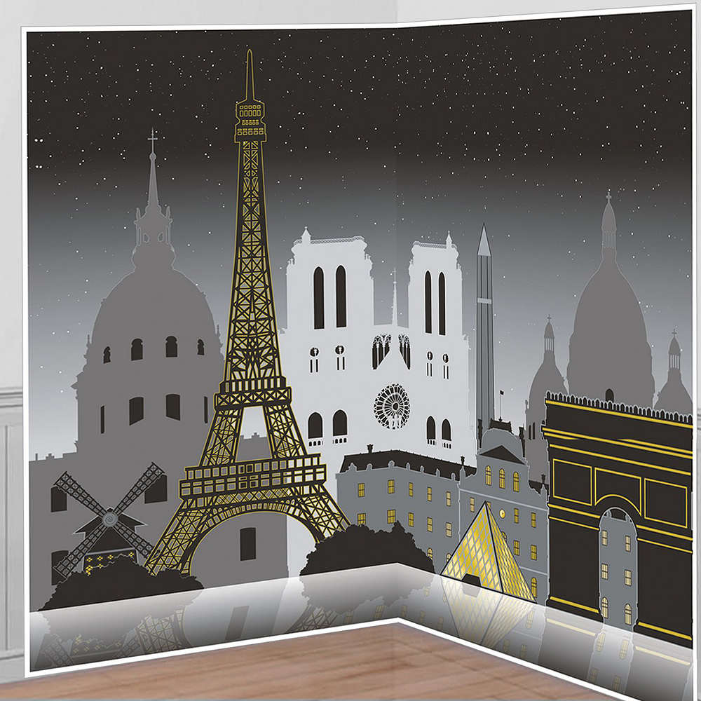 Black & Gold Paris Decorating Kit Image #4