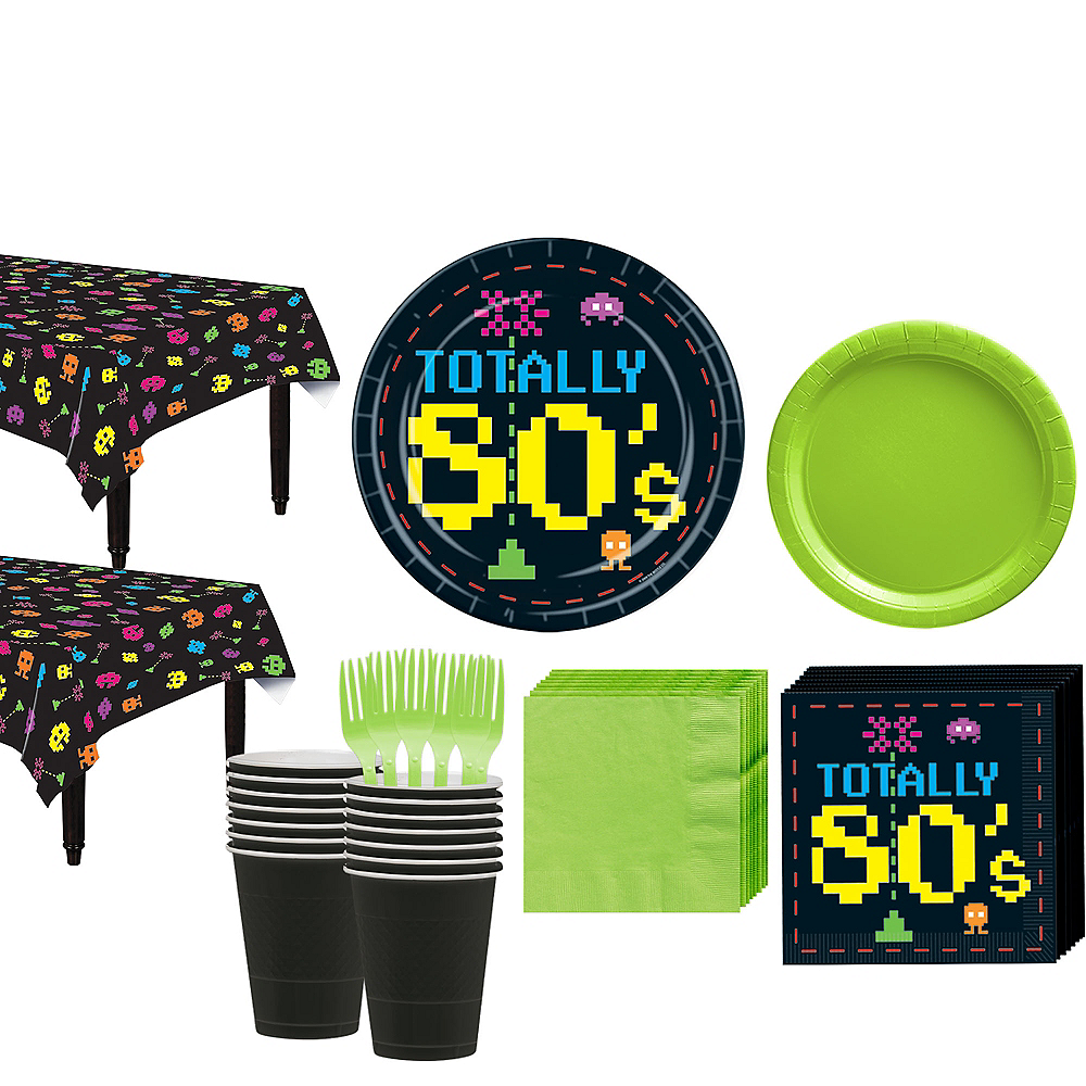 Totally 80s Tableware Kit for 16 Guest Image #1