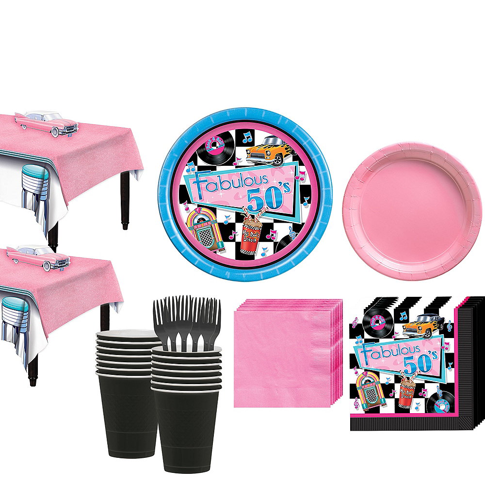 Rock 'n' Roll 50s Tableware Kit for 32 Guest Image #1