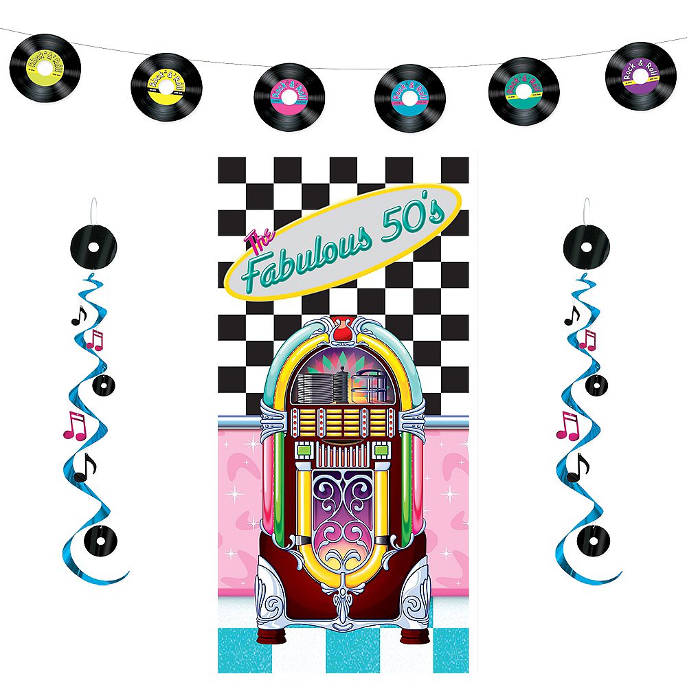 Rock 'n' Roll 50s Decorating Kit Image #1