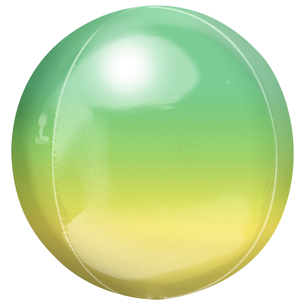 Yellow & Green Ombre Orbz Balloon Image #1