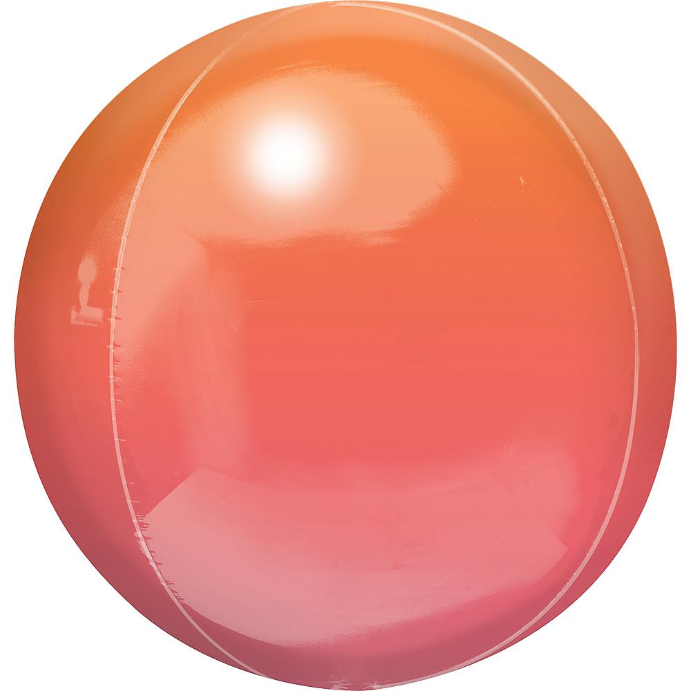 Red & Orange Ombre Orbz Balloon Image #1