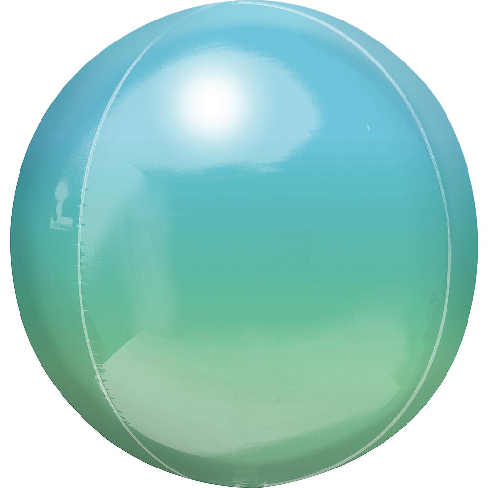 Blue & Green Ombre Orbz Balloon Image #1