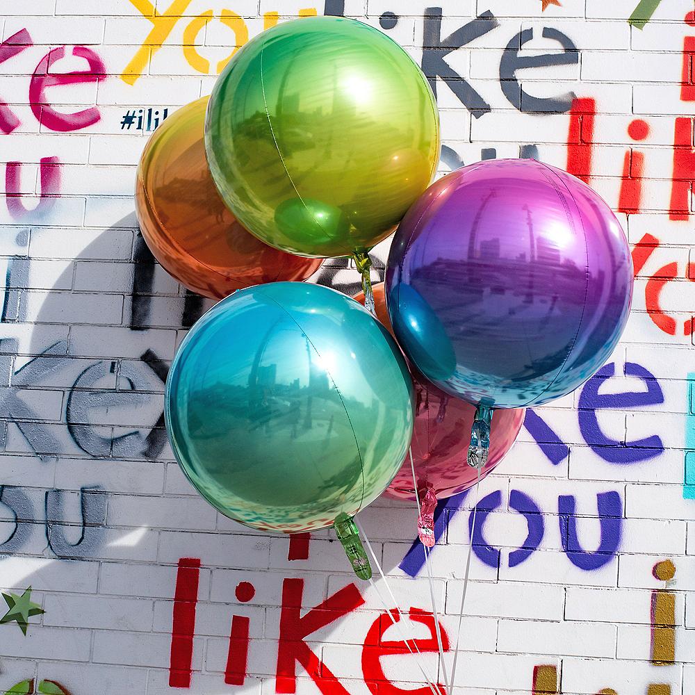 Blue & Green Ombre Orbz Balloon Image #2