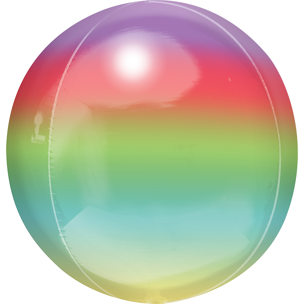 Rainbow Ombre Orbz Balloon Image #1