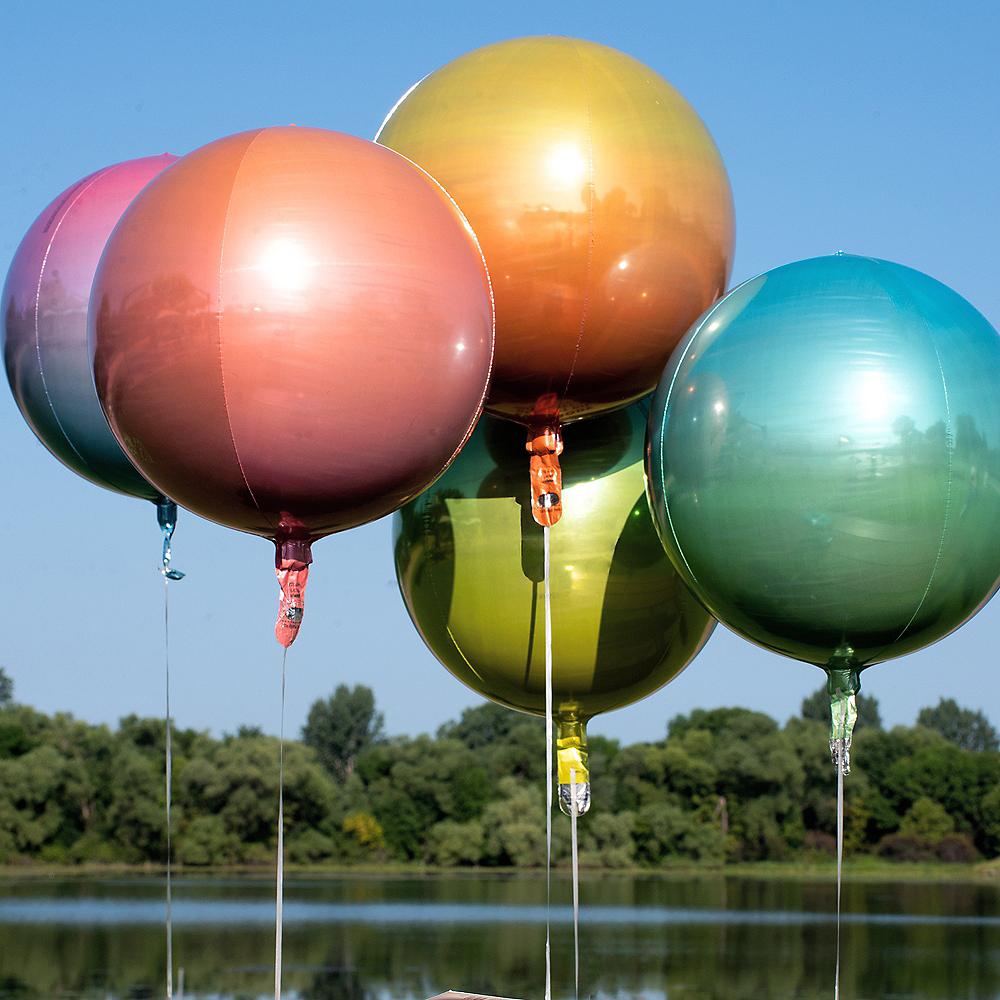 Rainbow Ombre Orbz Balloon Image #2