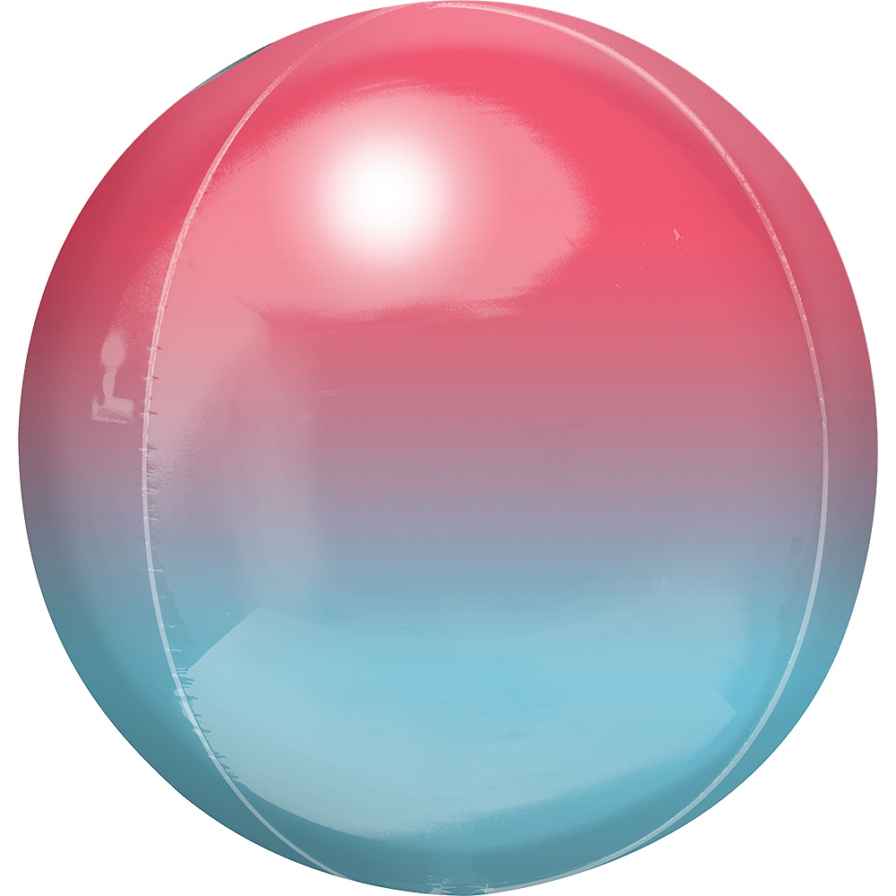 Red & Blue Ombre Orbz Balloon Image #1