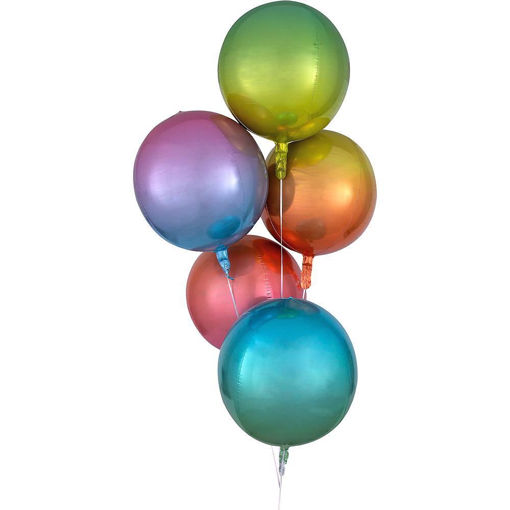 Red & Blue Ombre Orbz Balloon Image #2