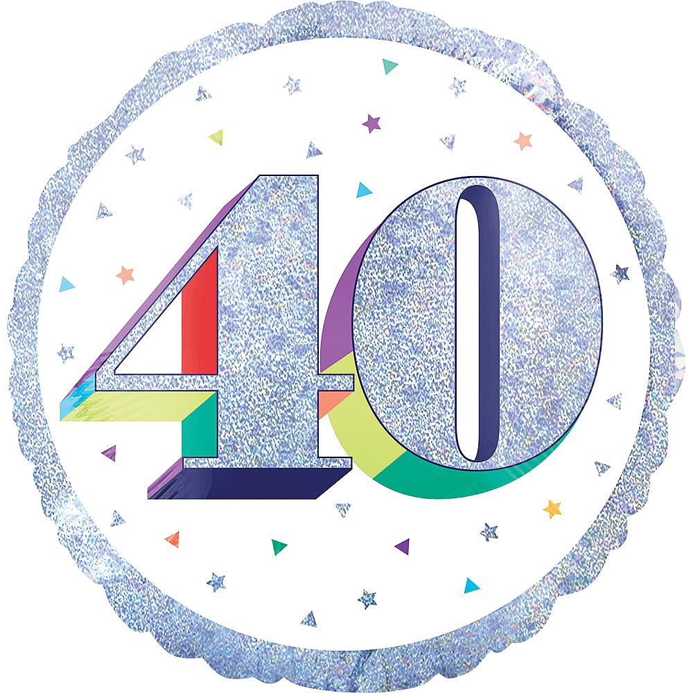 Prismatic Rainbow 40th Birthday Balloon Image #1