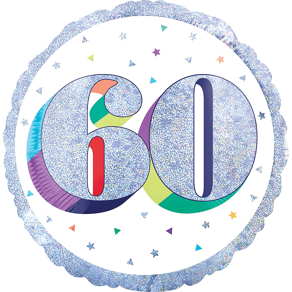 Prismatic Rainbow 60th Birthday Balloon Image #1