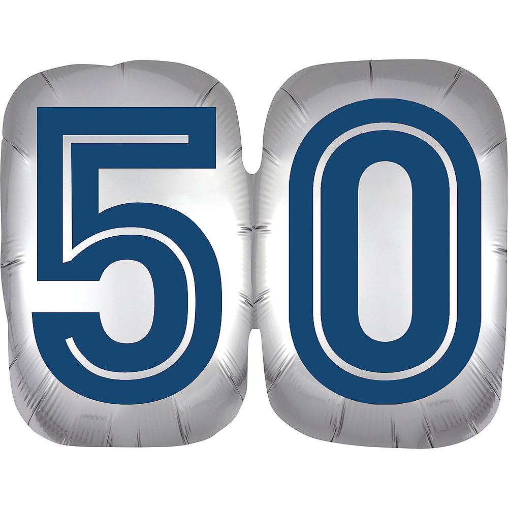 Vintage Happy Birthday 50 Balloon Image #1