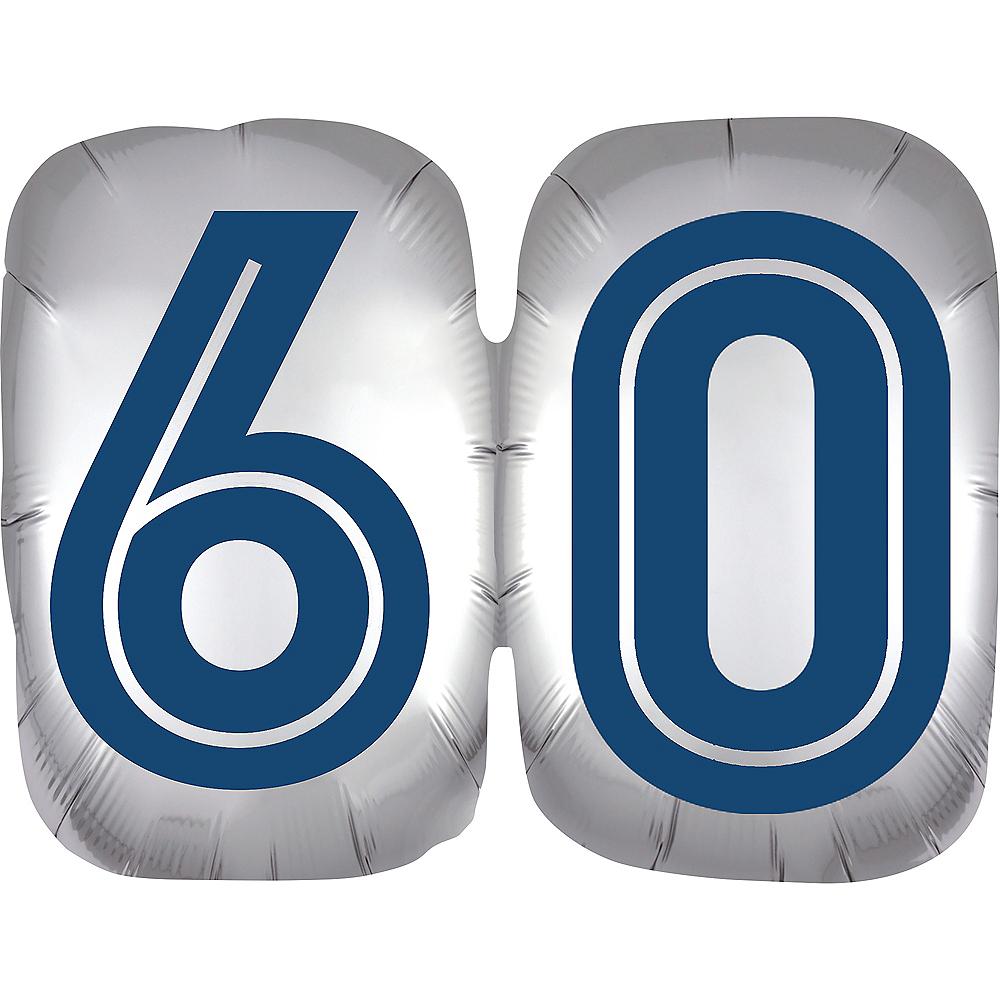 Vintage Happy Birthday 60 Balloon Image #1