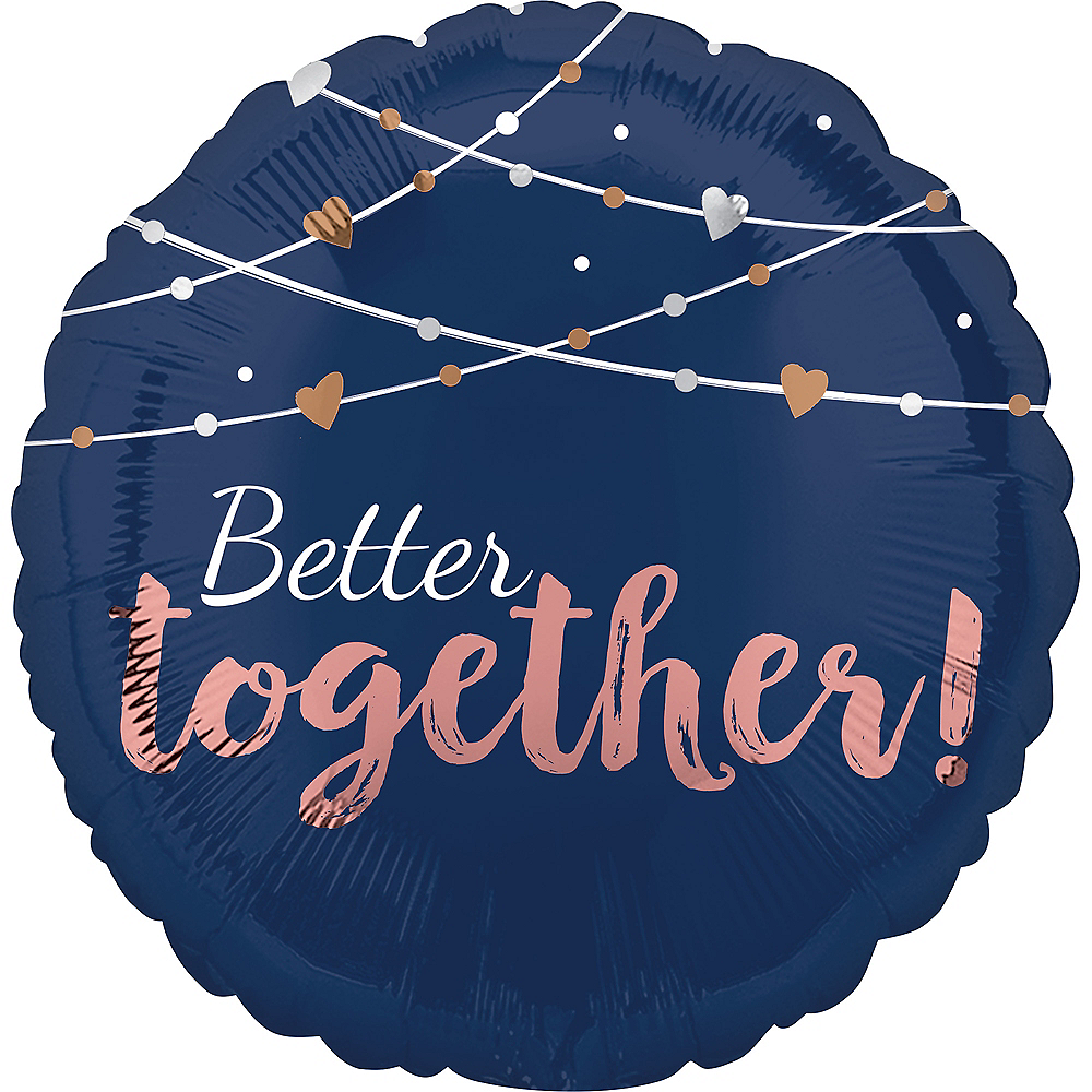 Navy Better Together Balloon, 17in Image #2