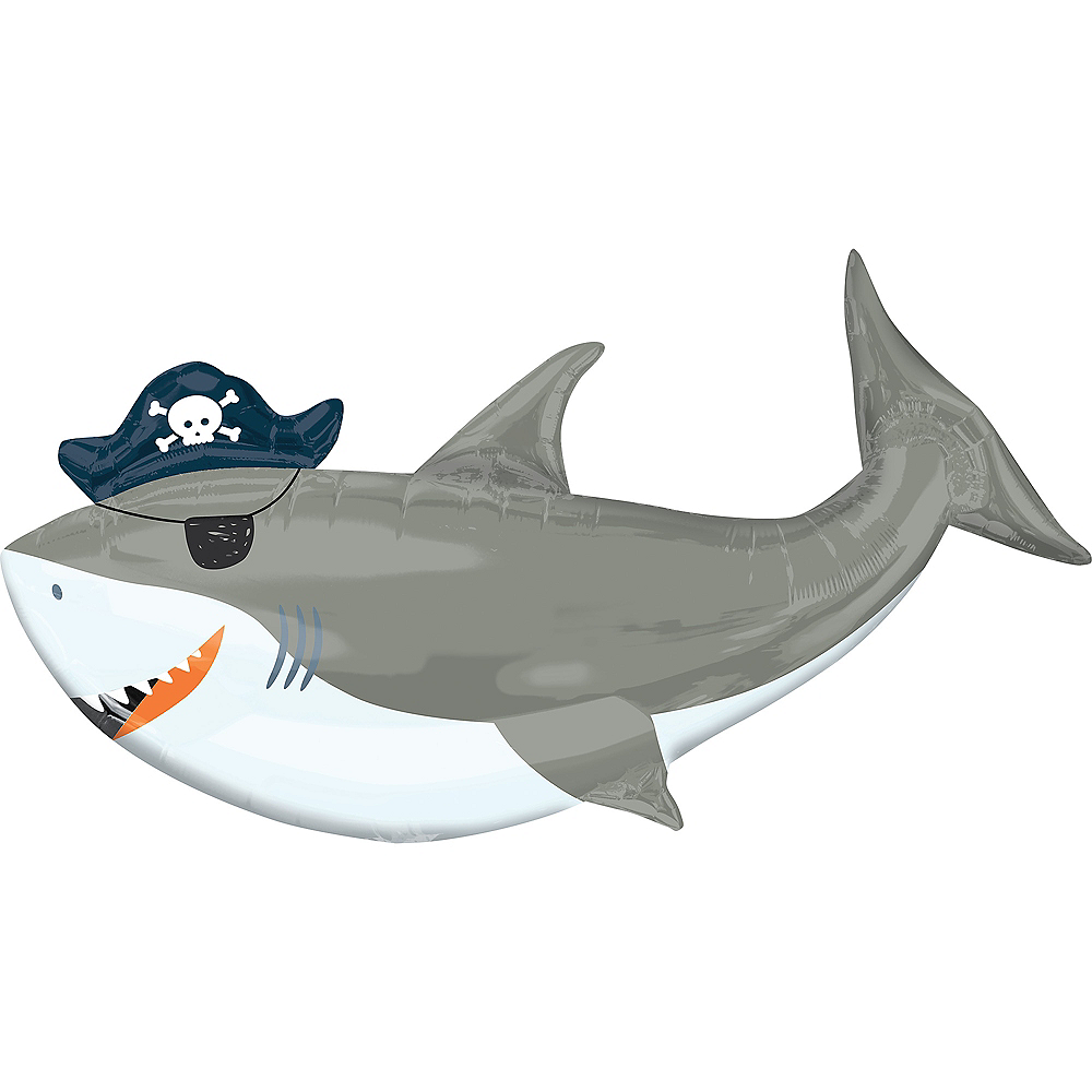 Giant Pirate Shark Balloon Image #1