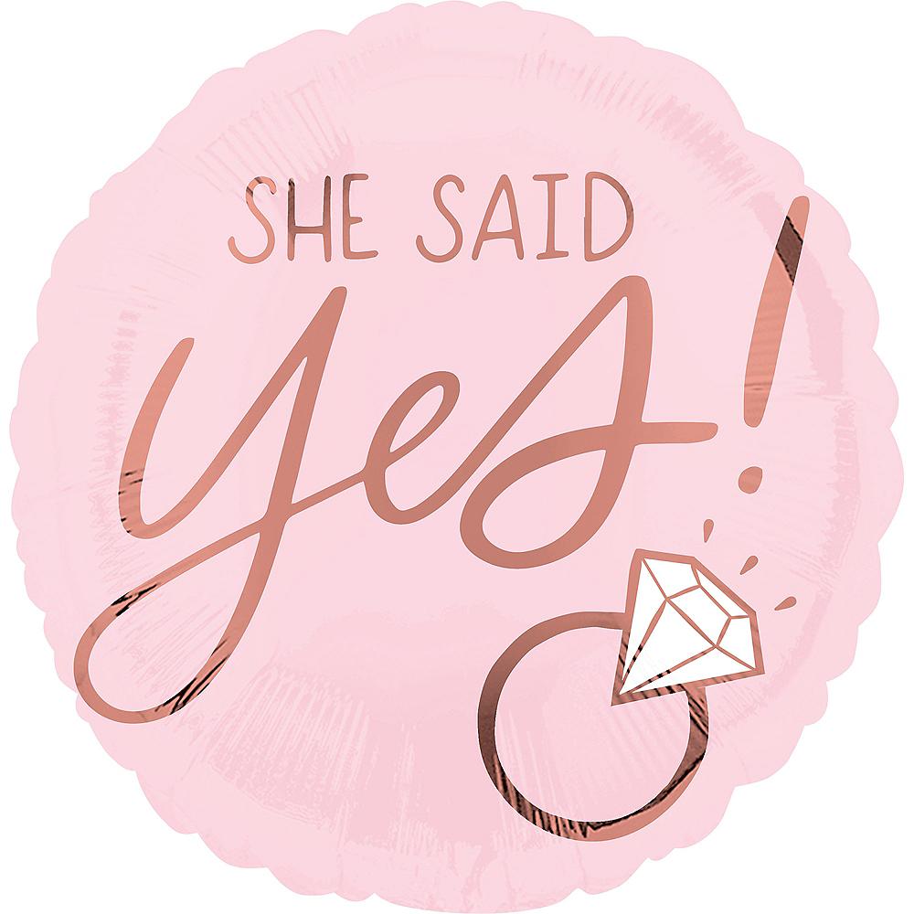 She Said Yes Wedding Balloon, 17in Image #2