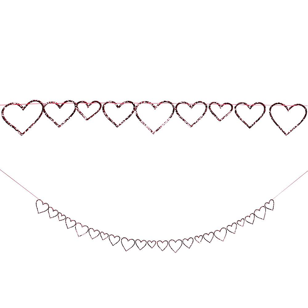 Glitter Heart Garland Image #1