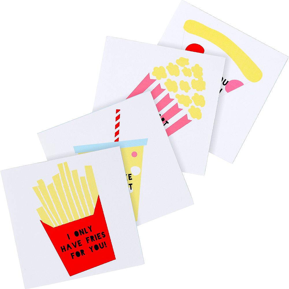 Food Valentine Exchange Cards with Tattoos 24ct Image #1