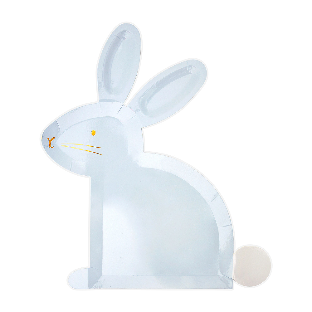 Shaped Pastel Bunny Plates 8ct Image #1
