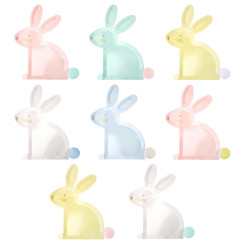Shaped Pastel Bunny Plates 8ct Image #2