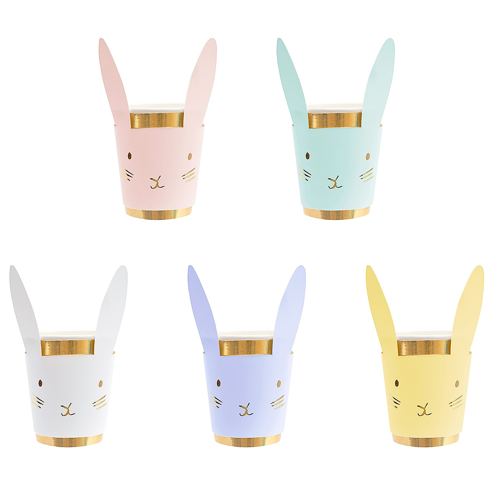 Pastel Bunny Cups 8ct Image #2
