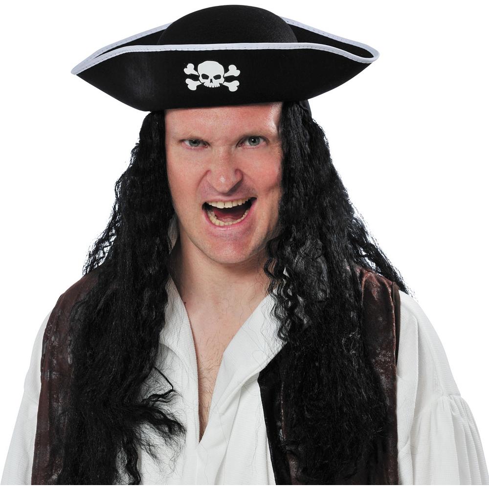 Black Pirate Hat Image #2