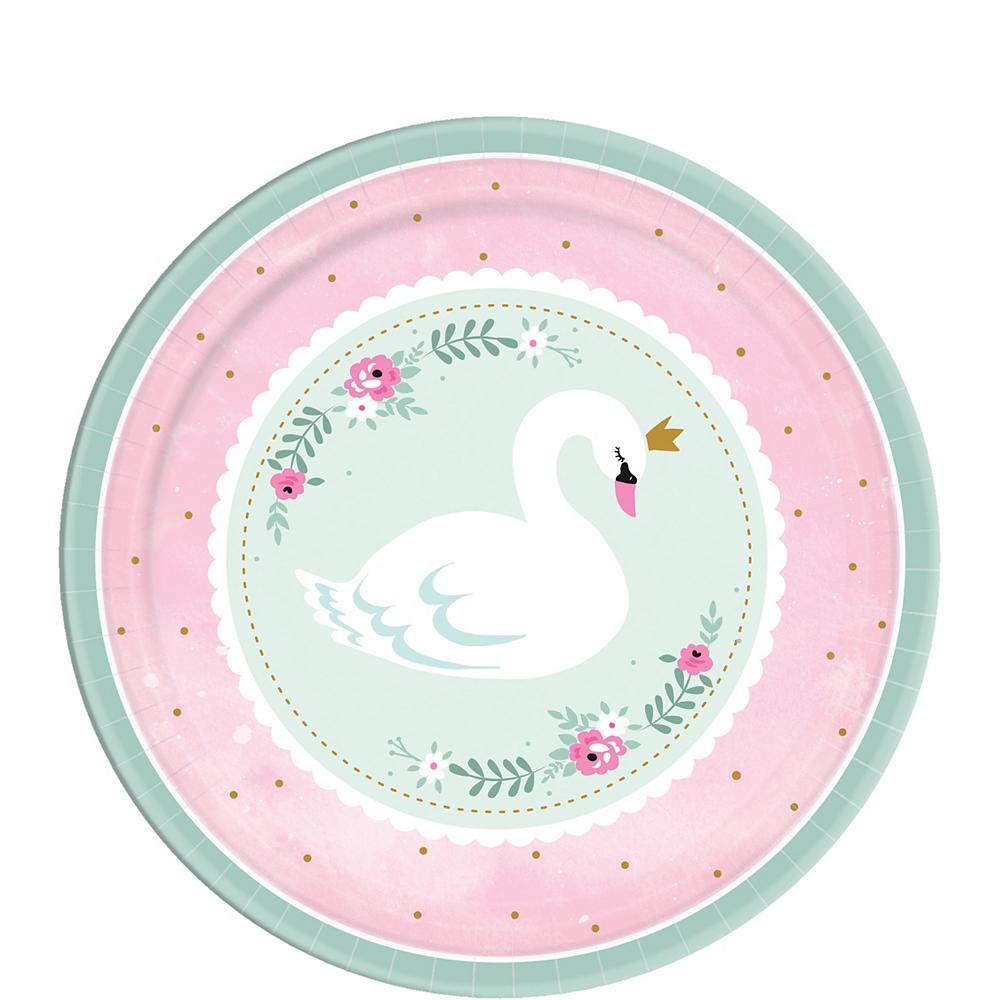 Sweet Swan Dessert Plates 8ct Image #1