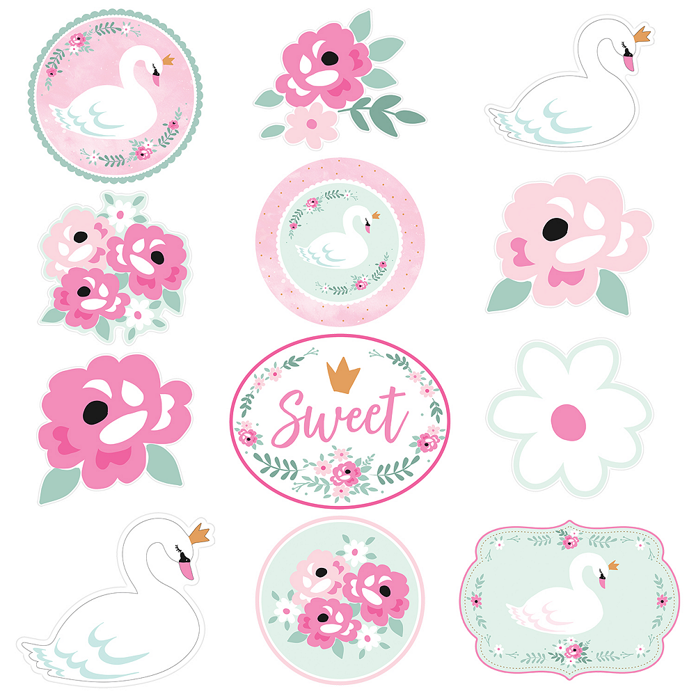 Sweet Swan Cutouts 12ct Image #1