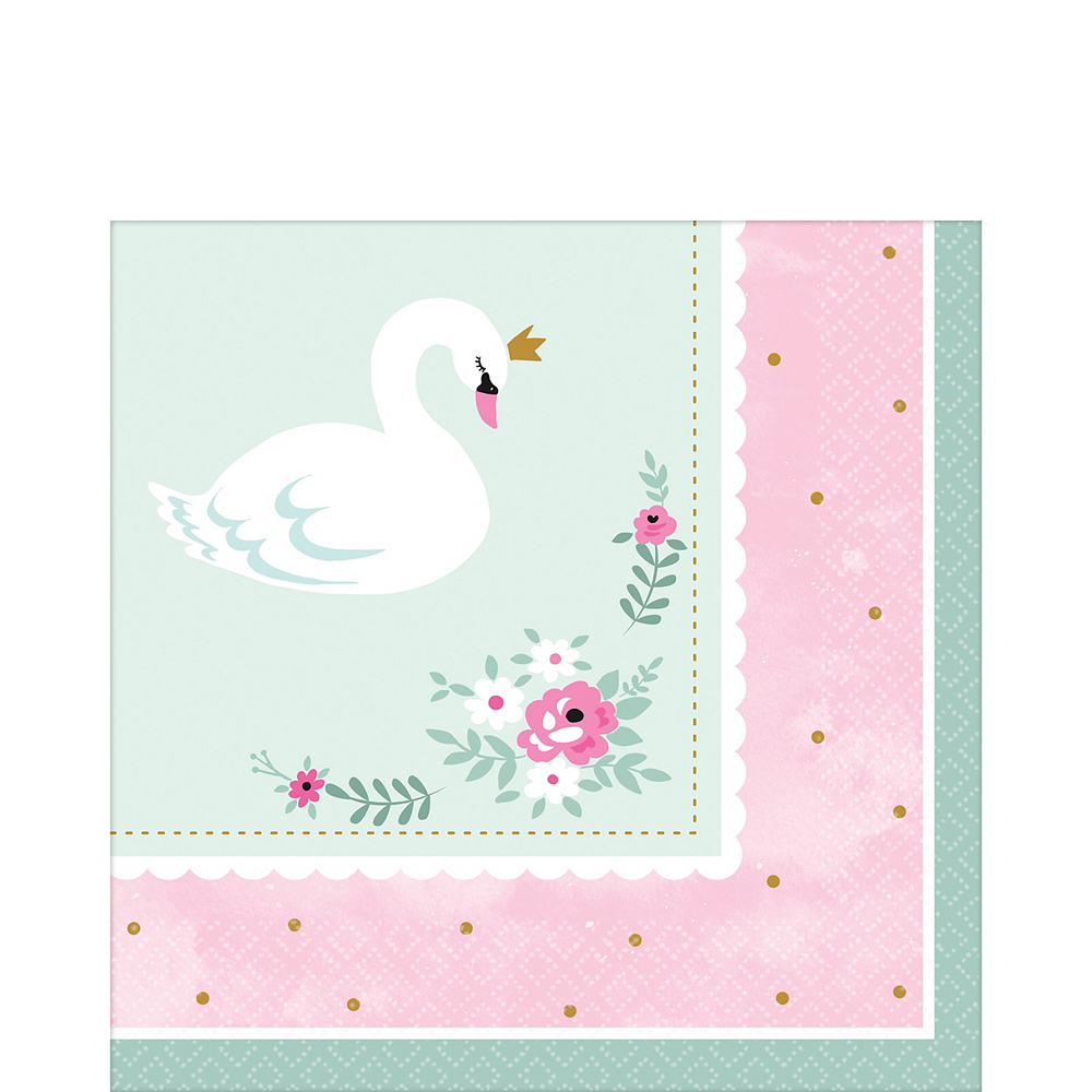 Sweet Swan Lunch Napkins 16ct Image #1