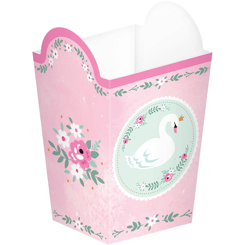 Sweet Swan Popcorn Treat Boxes 8ct Image #1