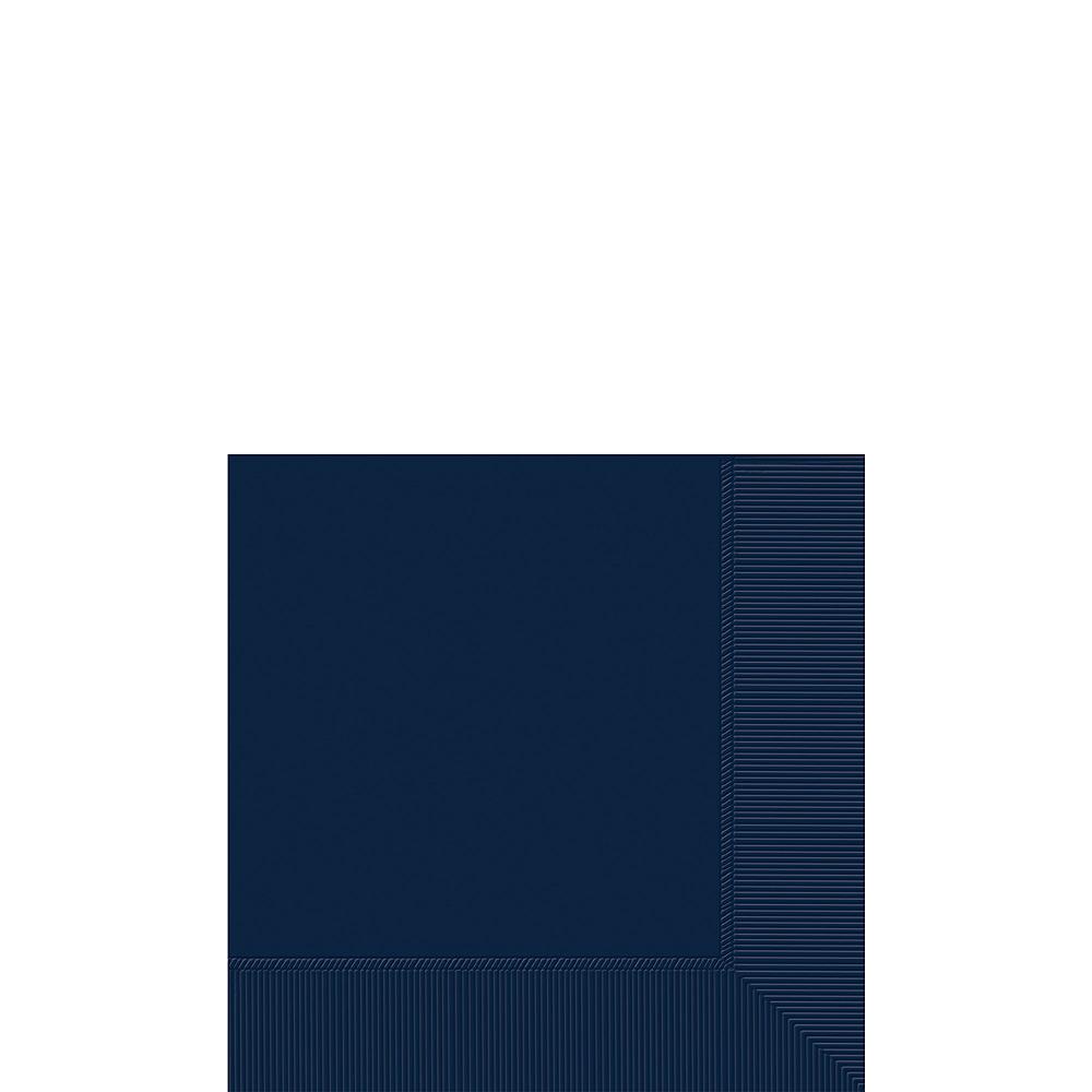 True Navy Blue Beverage Napkins 50ct Image #1