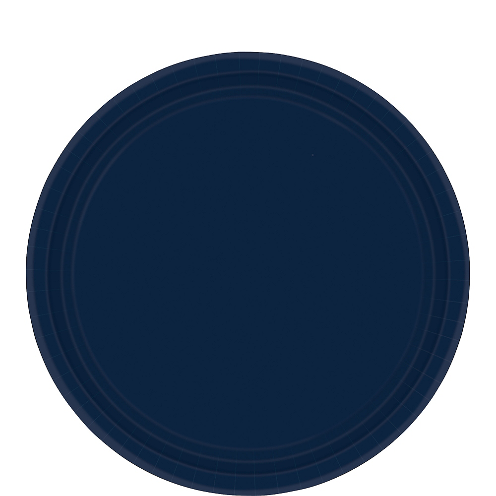 True Navy Blue Paper Lunch Plates 20ct Image #1