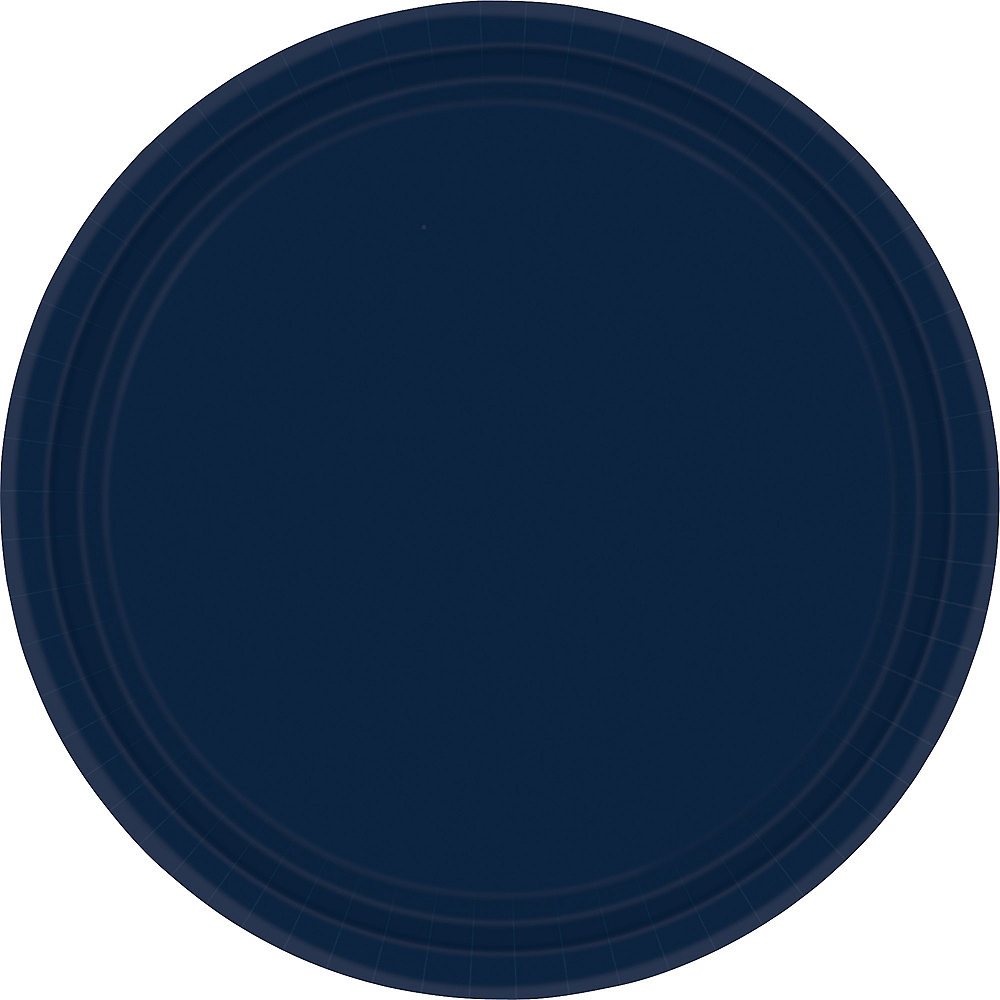 true navy paper dinner plates 20ct party city canada. Black Bedroom Furniture Sets. Home Design Ideas