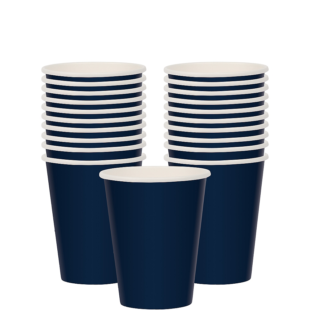 True Navy Blue Paper Cups 20ct Image #1