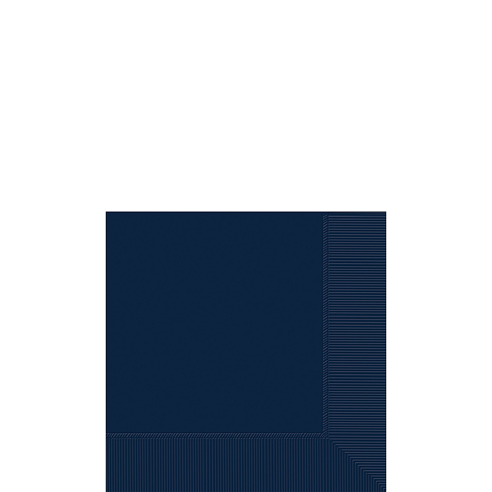 Big Party Pack True Navy Blue Beverage Napkins 125ct Image #1