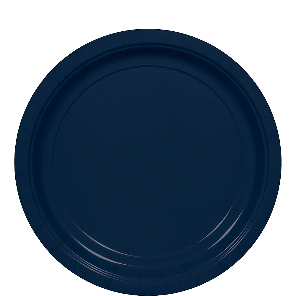 Big Party Pack True Navy Blue Paper Lunch Plates 50ct Image #1