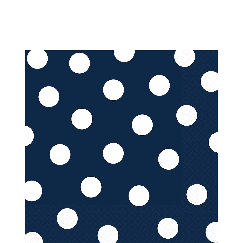 True Navy Blue Polka Dot Lunch Napkins 16ct Image #1
