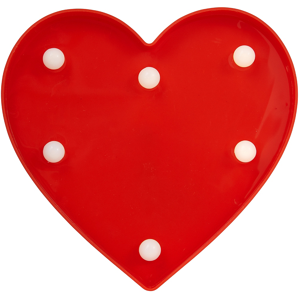 Light-Up Mini Red Magnetic Heart Marquee Sign Image #1