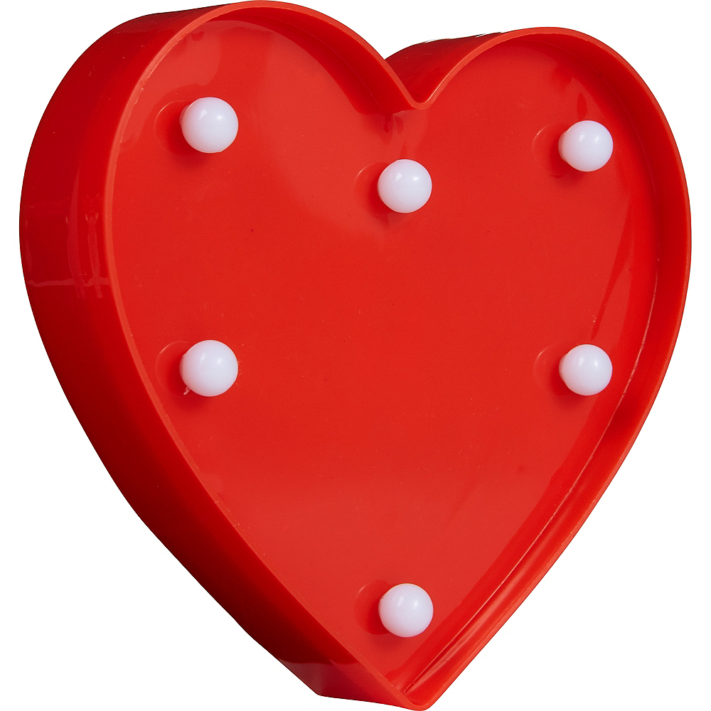 Light-Up Mini Red Magnetic Heart Marquee Sign Image #2