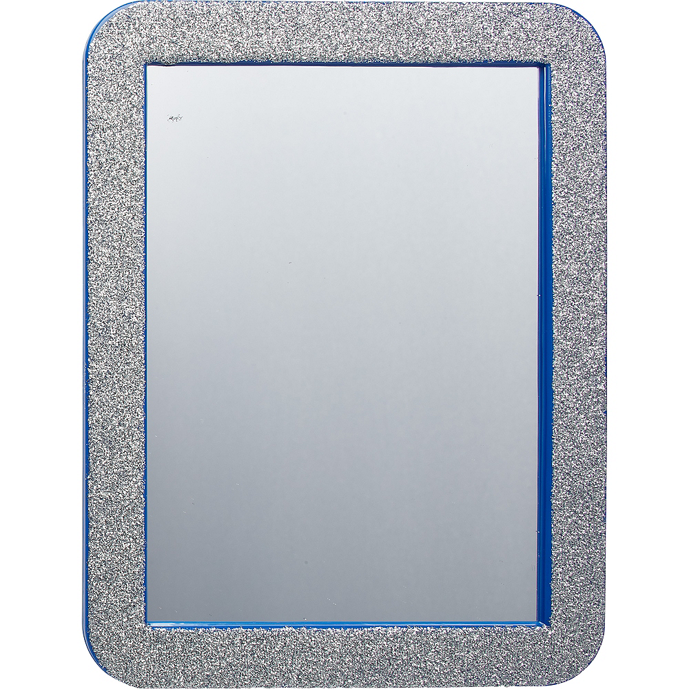 Glitter Blue Magnetic Mirror Image #1