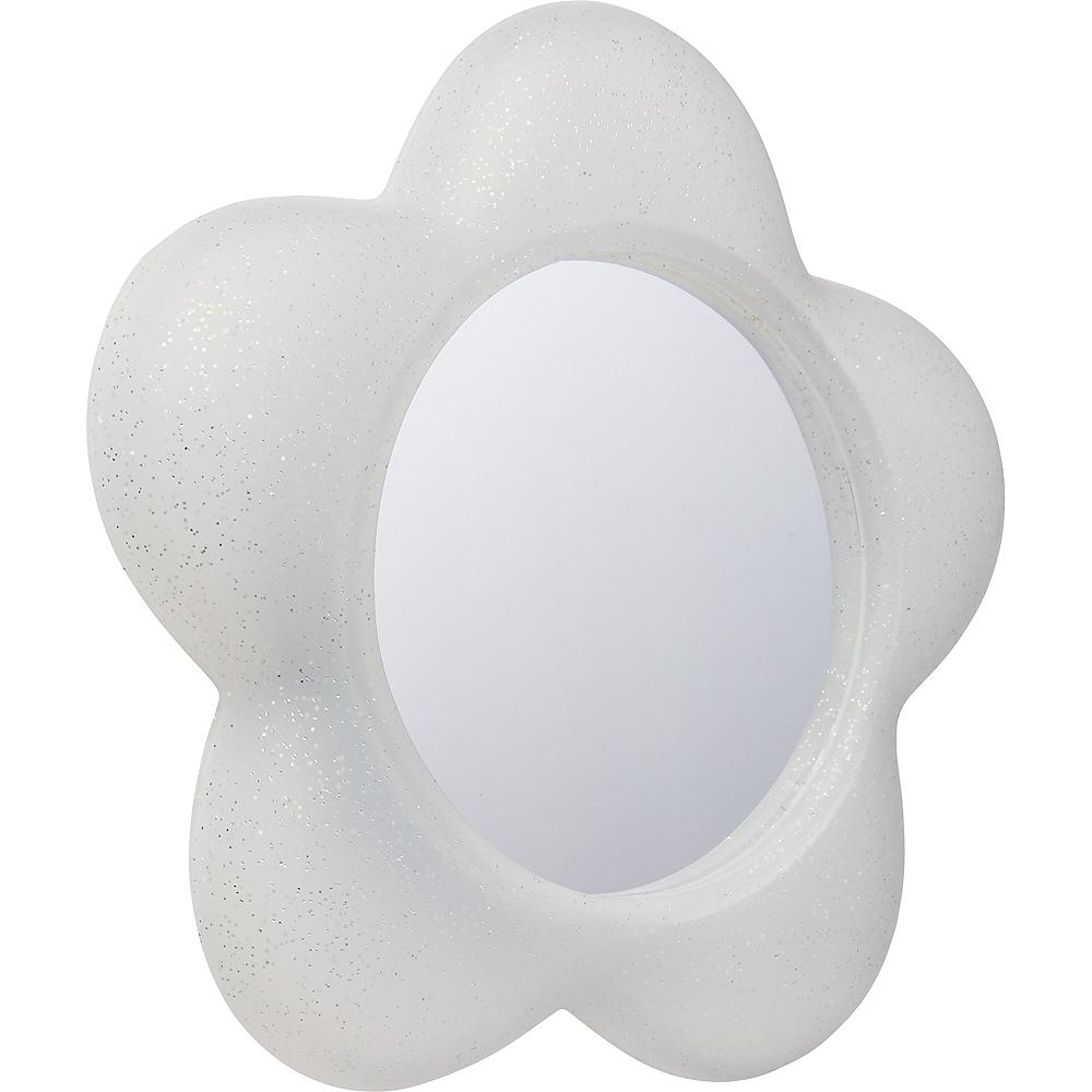 Glitter White Magnetic Flower Mirror Image #2