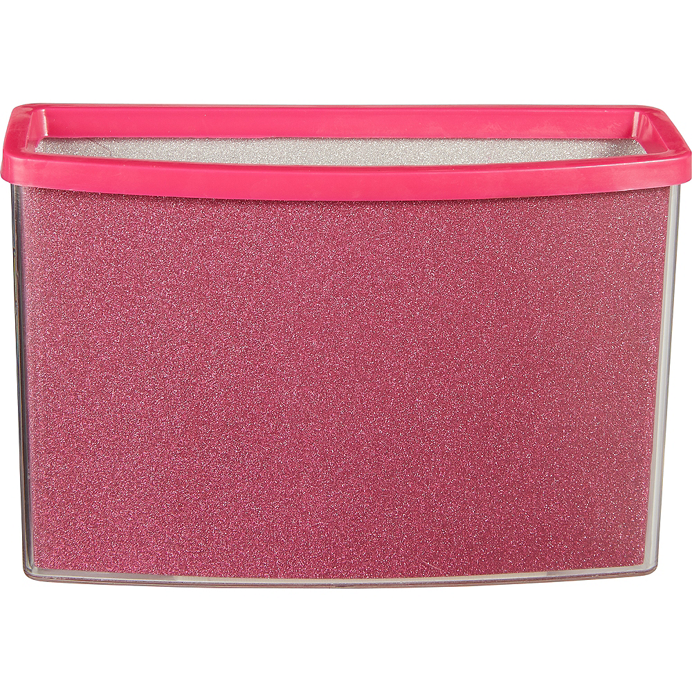 Glitter Pink Magnetic Locker Caddy Image #1