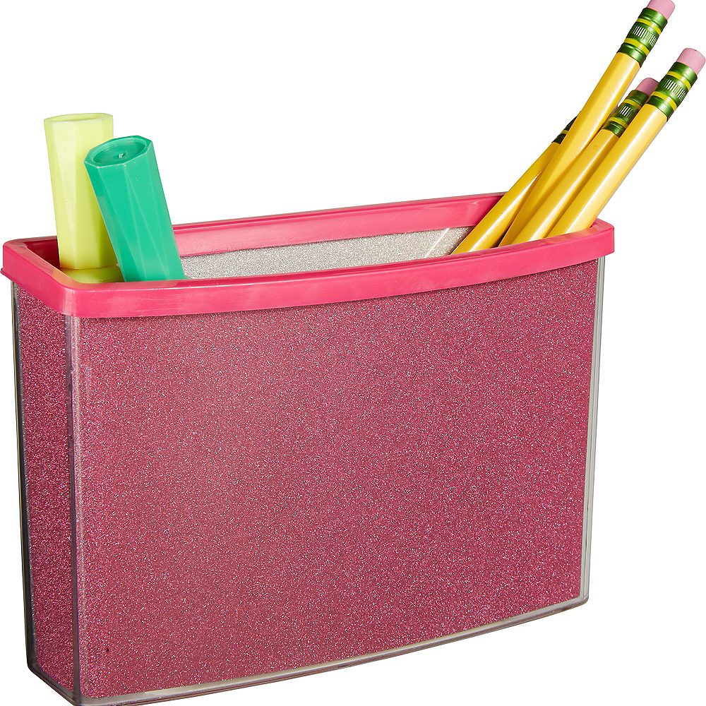 Glitter Pink Magnetic Locker Caddy Image #2