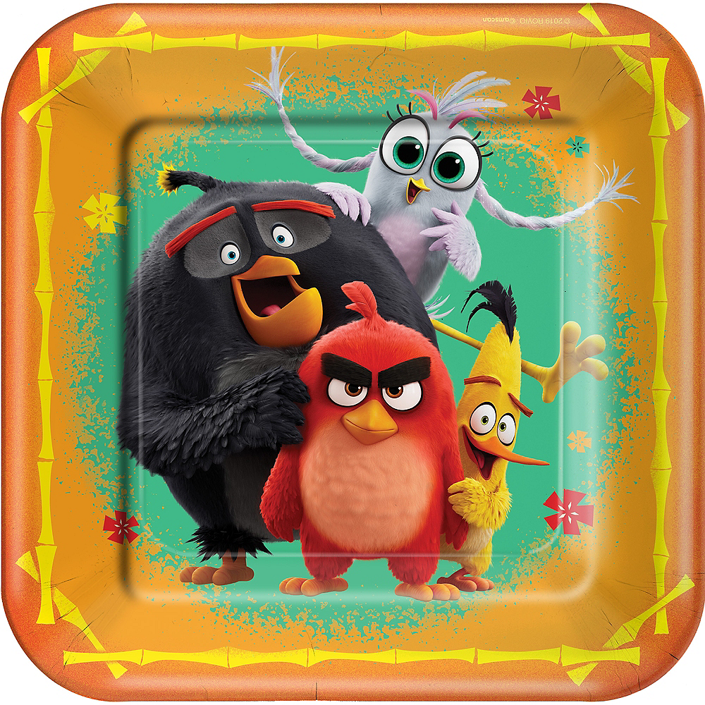 Angry Birds 2 Lunch Plates 8ct Party City