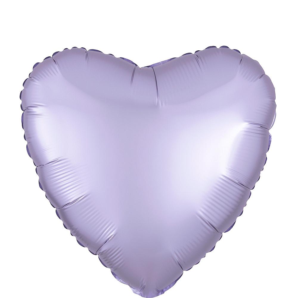 17in Lavender Satin Heart Balloon Image #1