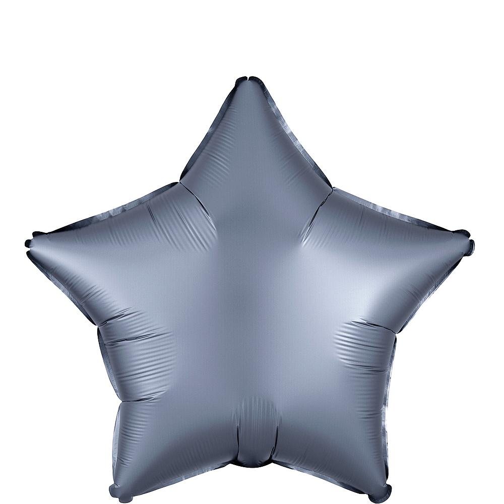 Graphite Satin Star Balloon Image #1