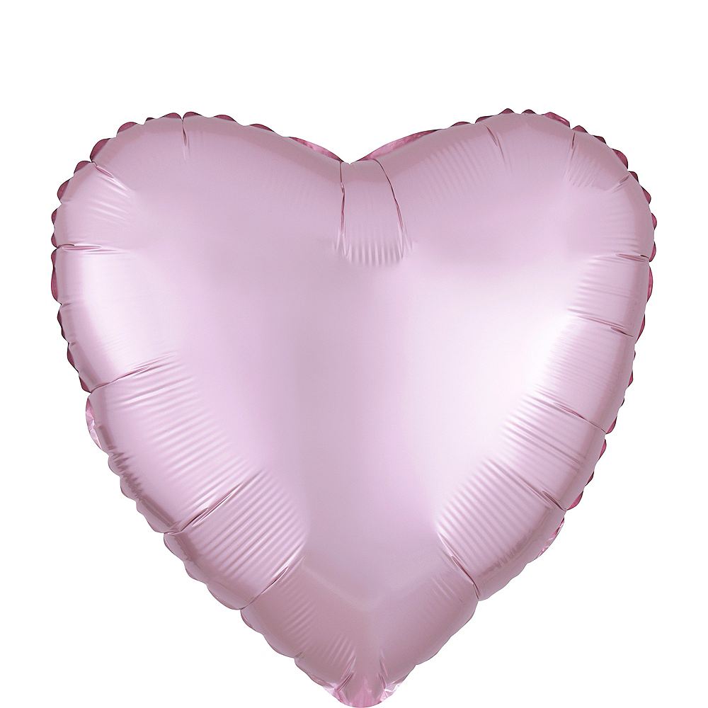 17in Light Pink Satin Heart Balloon Image #1