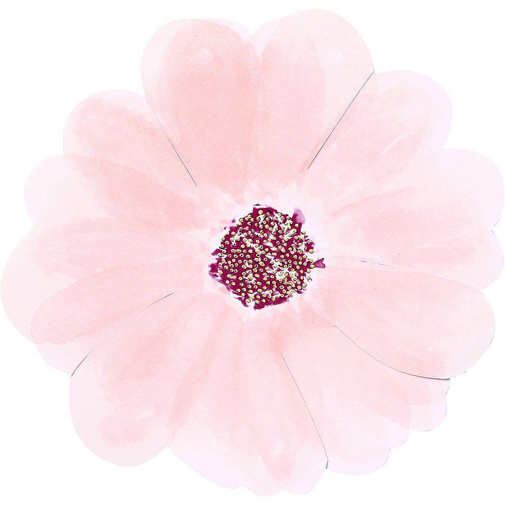 Shaped Flower Dessert Plates 8ct Image #1