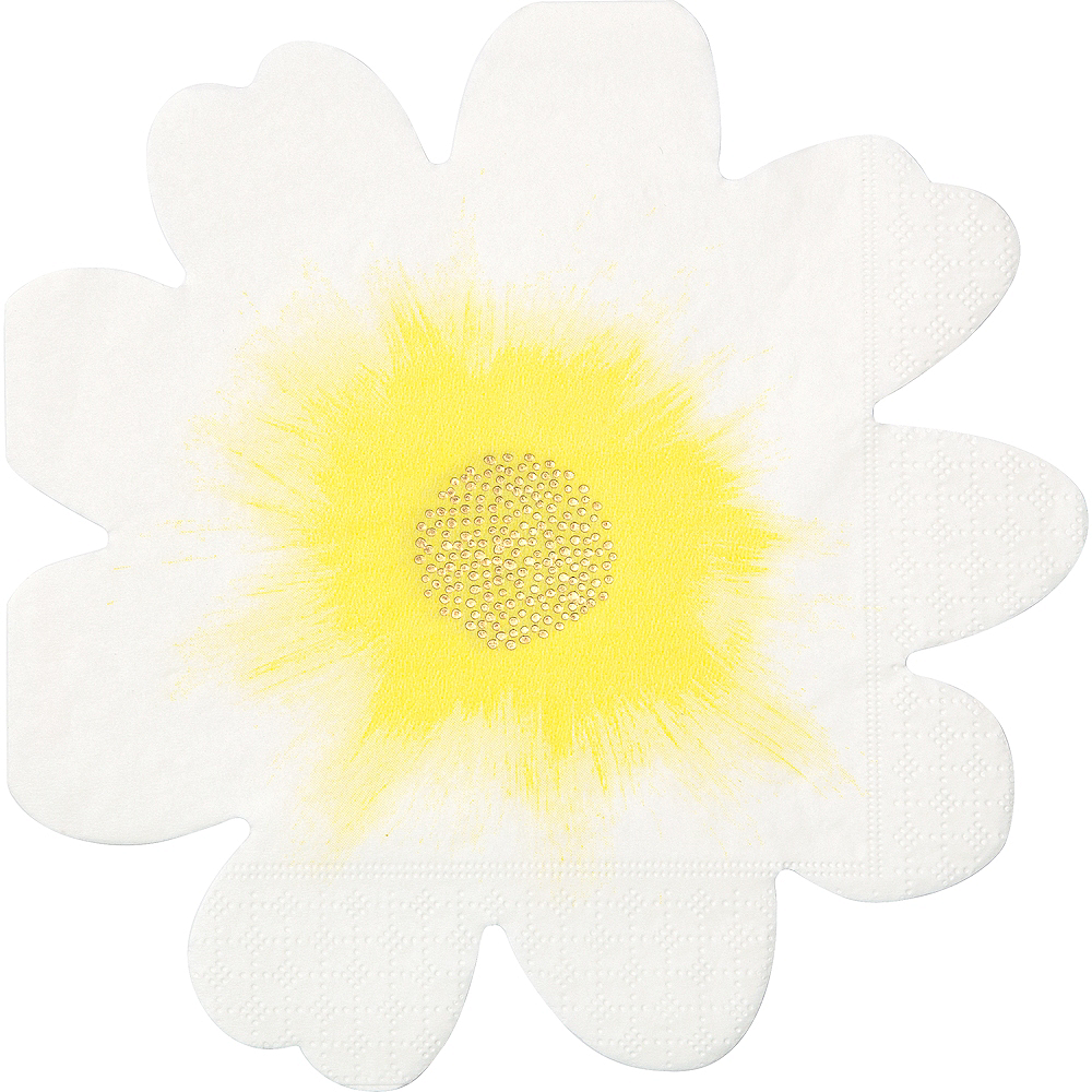 Shaped Flower Lunch Napkins 16ct Image #1
