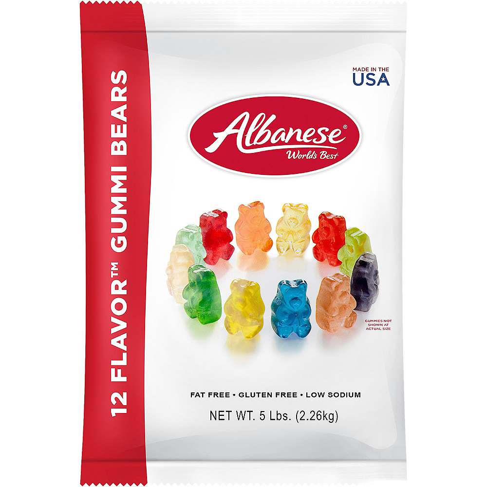 Nav Item for 12 Flavor Mini Gummi Bears 5lb Image #1